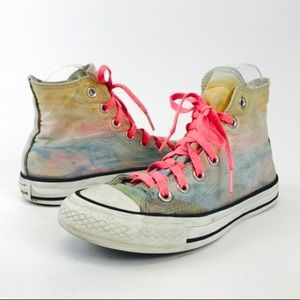 Converse Rainbow Watercolor High Top Sneakers